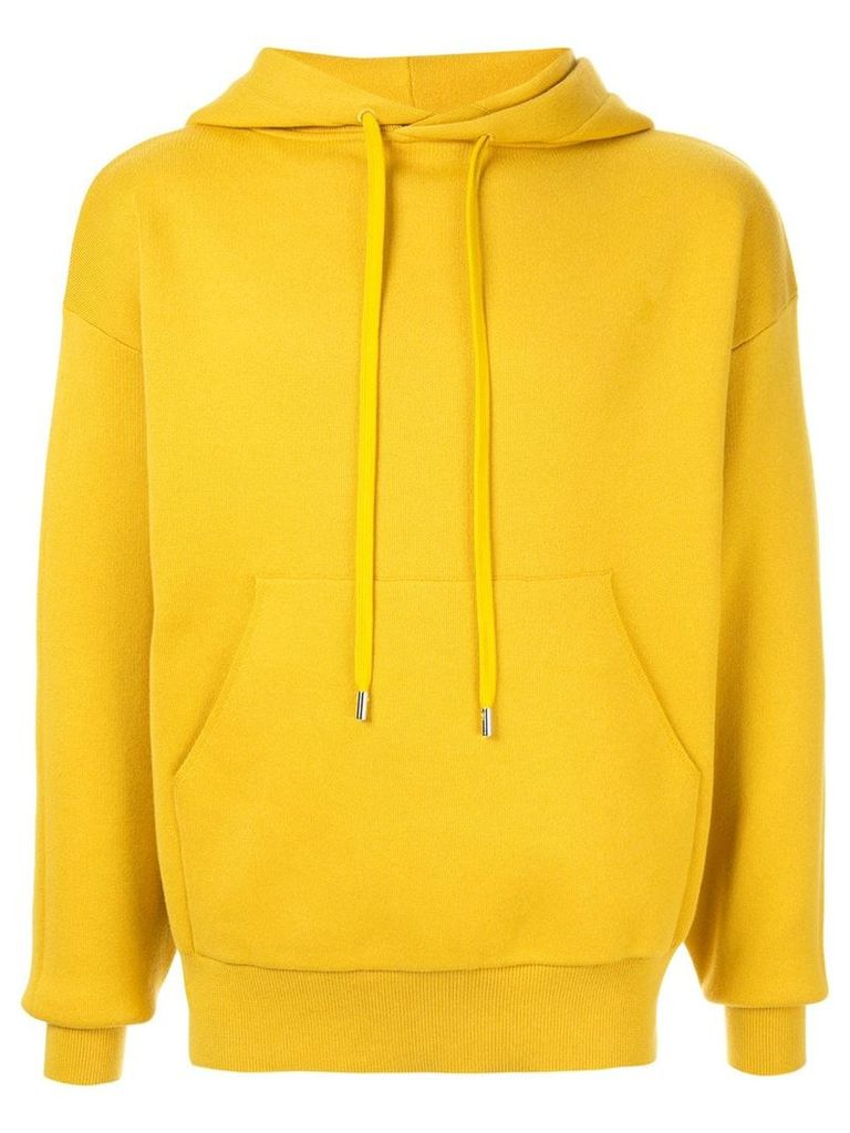 Caban drawstring hooded sweater - Yellow