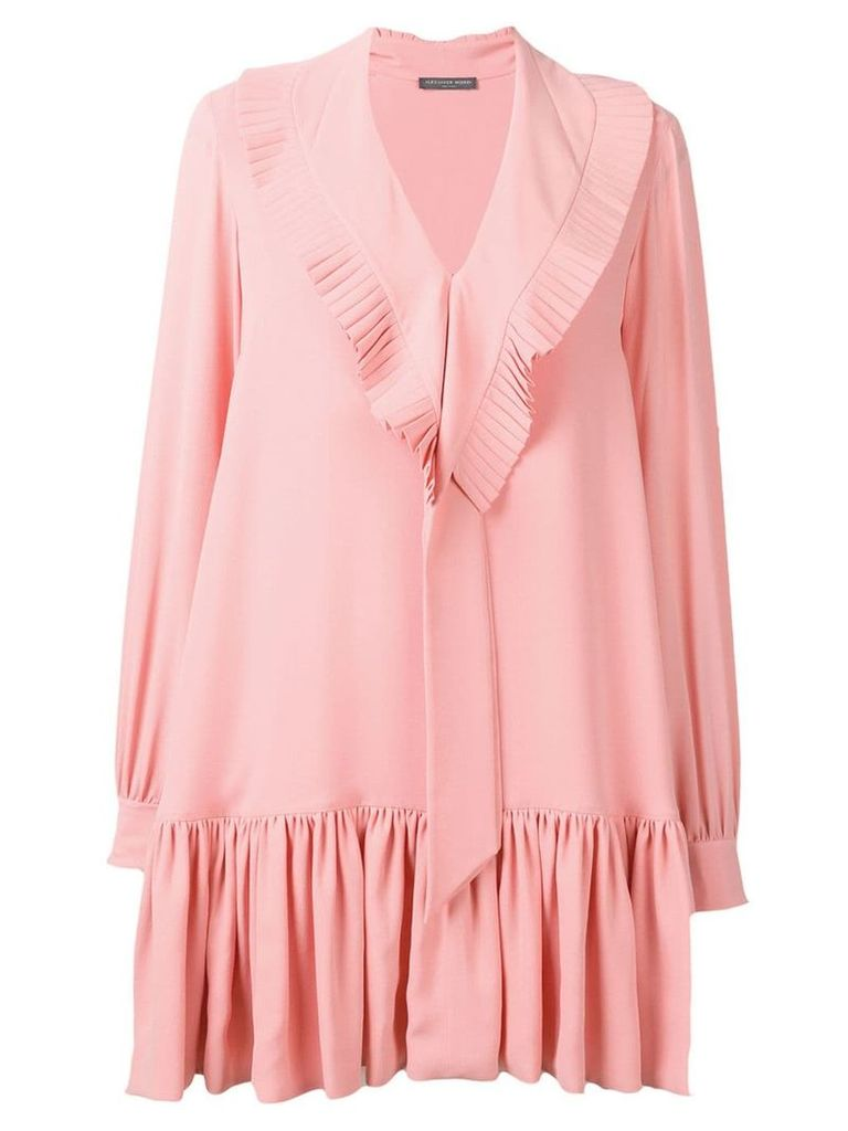 Alexander McQueen pleated bib dress - Pink