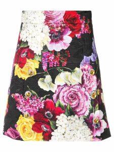 Dolce & Gabbana floral jewelled skirt - Pink