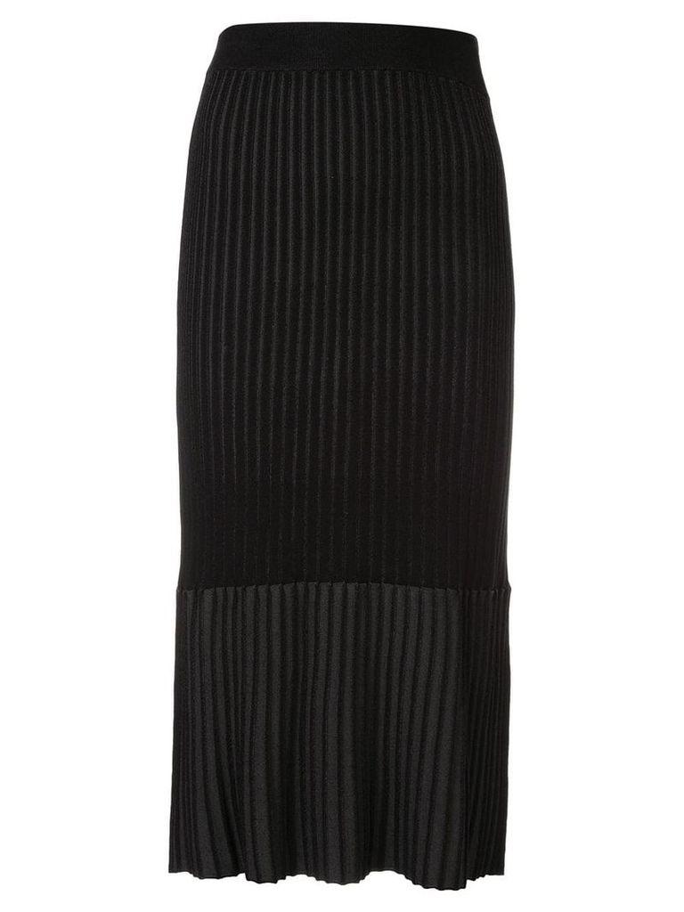Le Ciel Bleu pleated midi pencil skirt - Black
