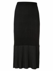 Le Ciel Bleu pleated midi pencil skirt - Black
