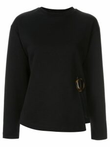 Le Ciel Bleu side-slit fitted sweater - Black