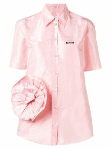 Miu Miu rose detail shirt - Pink