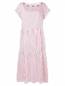 Vivetta striped midi dress - White