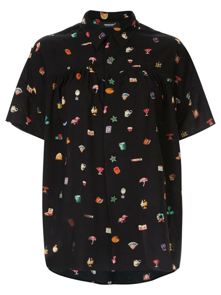 Undercover multi-print short sleeve shirt - Black