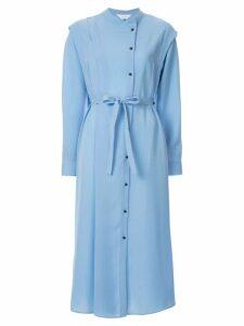 Le Ciel Bleu long-sleeve shirt dress - Blue