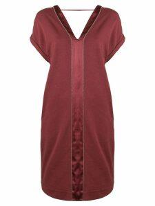 Brunello Cucinelli short V-neck dress - Red