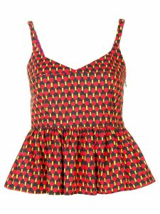 La Doublej printed peplum top - Red