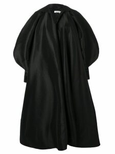 Richard Quinn puffball sleeve oversized coat - Black