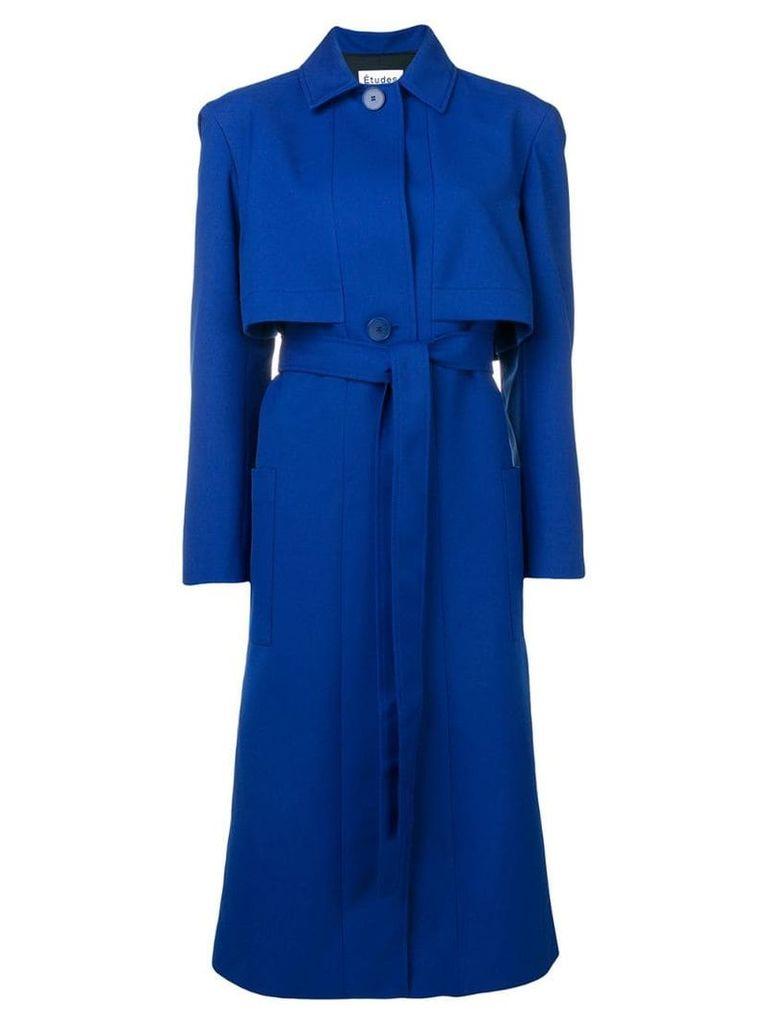 Études Arrow long coat - Blue