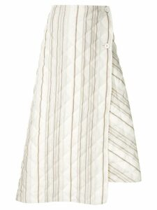 Jil Sander striped quilted skirt - Neutrals