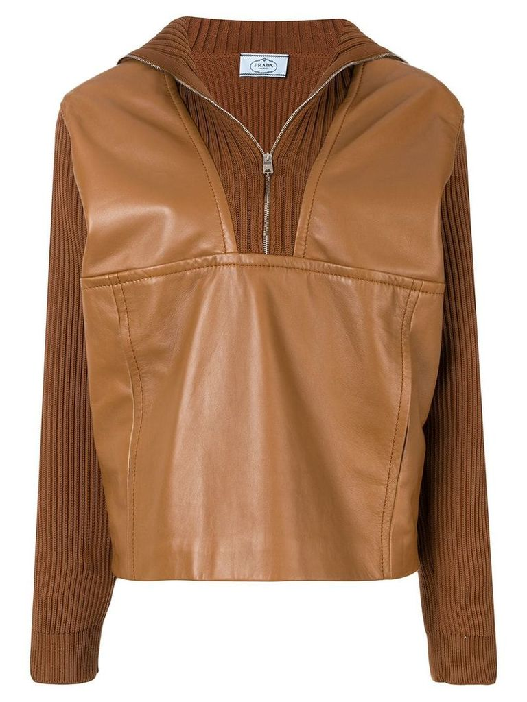 Prada half-zip sweater - Brown