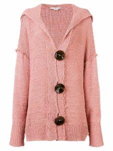 Stella McCartney hooded oversized cardigan - Pink