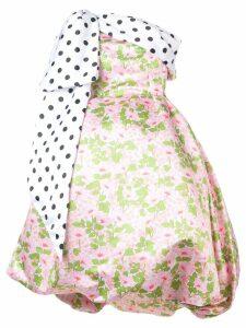 Richard Quinn puffball floral dress - White