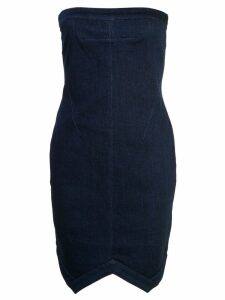 RtA strapless fitted mini dress - Blue