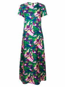 La Doublej colour-block flared dress - Pink
