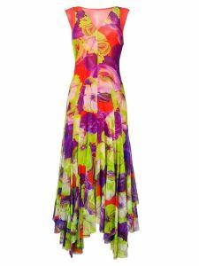 MSGM floral print long dress - Red