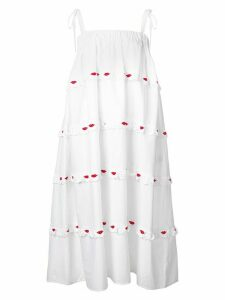 Vivetta embroidered lips dress - White