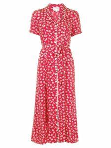 HVN seashells print dress - Red