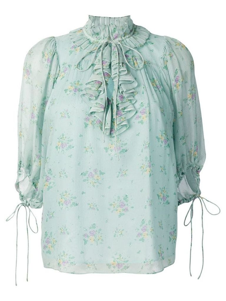 Coach Prairie Bouquet top - Green