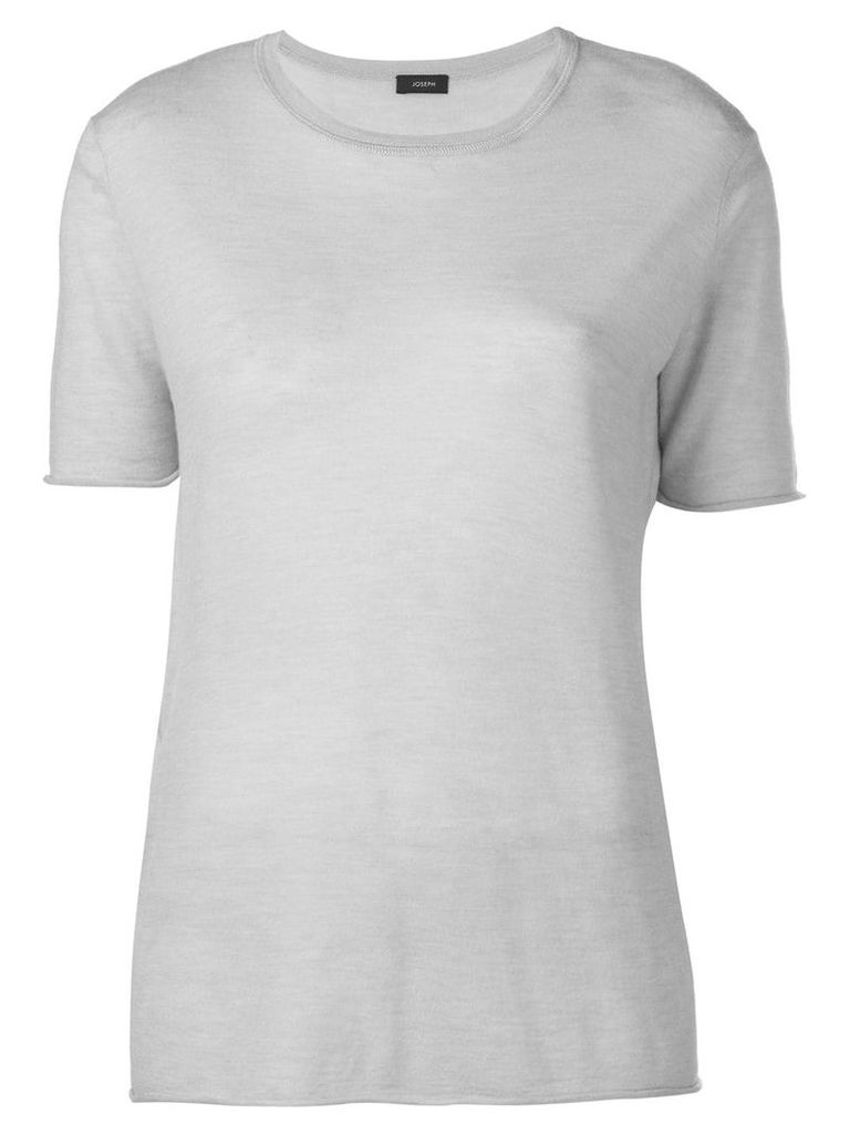 Joseph knitted drape T-shirt - Grey