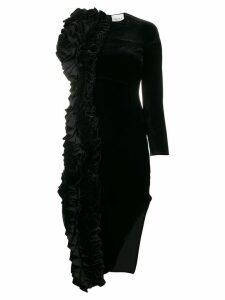 A.W.A.K.E. Mode asymmetric midi dress - Black