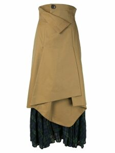 Enföld high rise draped skirt - Neutrals