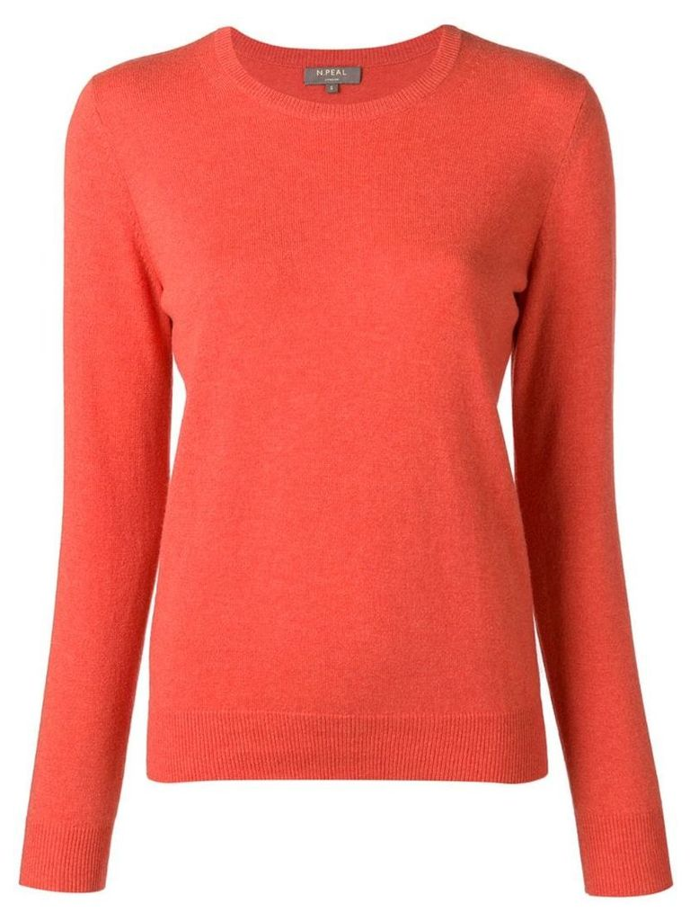 N.Peal round neck jumper - Orange