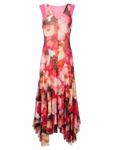 MSGM floral print long dress - Pink