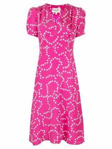 HVN hearts print dress - Pink