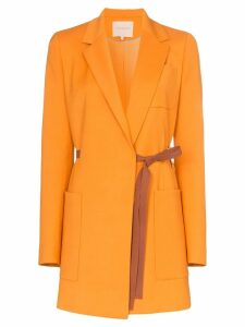 Roksanda Bleyda ribbon tie wrap blazer jacket - Orange