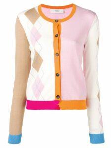 Pringle Of Scotland argyle colour block cardigan - Pink