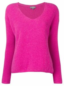N.Peal ribbed boxy V-neck sweater - Pink