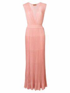 Missoni long pleated dress - Pink