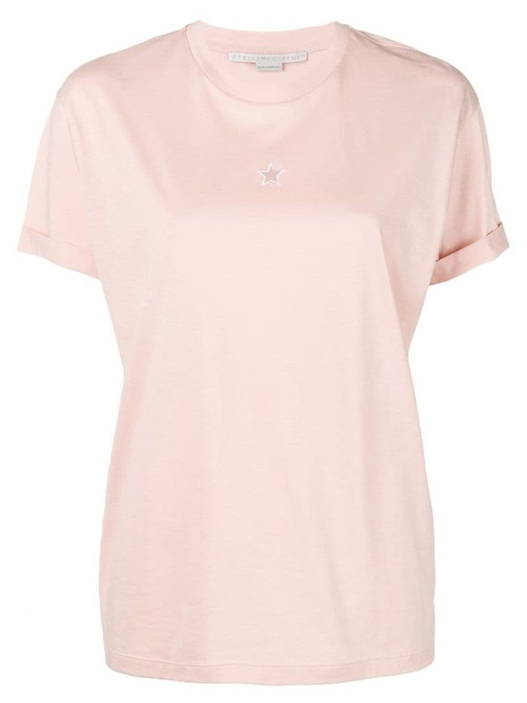 Stella McCartney Stella star cut out T-shirt - Pink