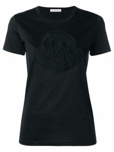 Moncler logo slim fit T-shirt - Black