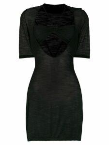 Jacquemus fitted mini dress - Black