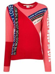 Pinko contrasting panel slim-fit sweater