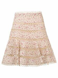 Zimmermann paisley print skirt - Neutrals