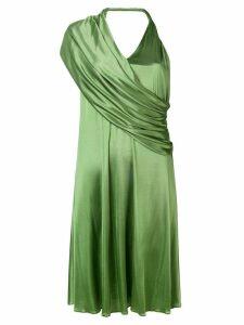 Lanvin draped V-neck dress - Green