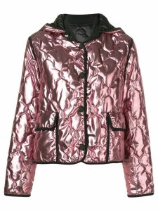 Pinko metallic hooded jacket
