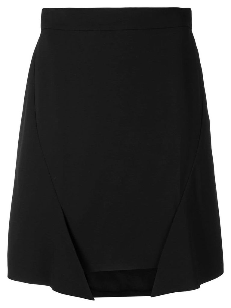 Alexander McQueen asymmetric panel skirt - Black