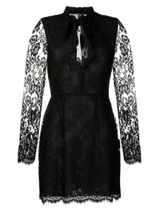 Saint Laurent lace-embellished mini dress - Black