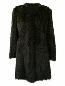 Liska single-breasted coat - Green