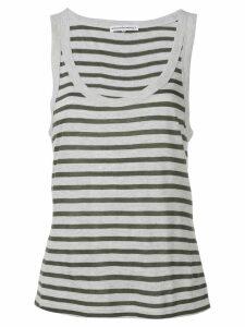 T By Alexander Wang striped tank top - Grey