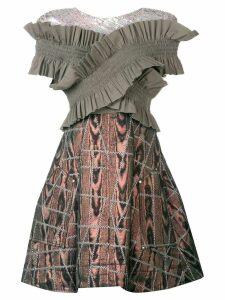 Talbot Runhof So Sorry dress - Grey