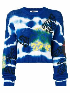 MSGM tie-dye patterned jumper - Blue
