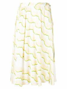 Aalto PRC printed midi skirt - Neutrals