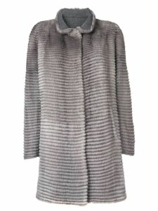 Liska striped textured coat - Grey