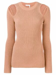 See By Chloé cold shoulder jumper - Brown